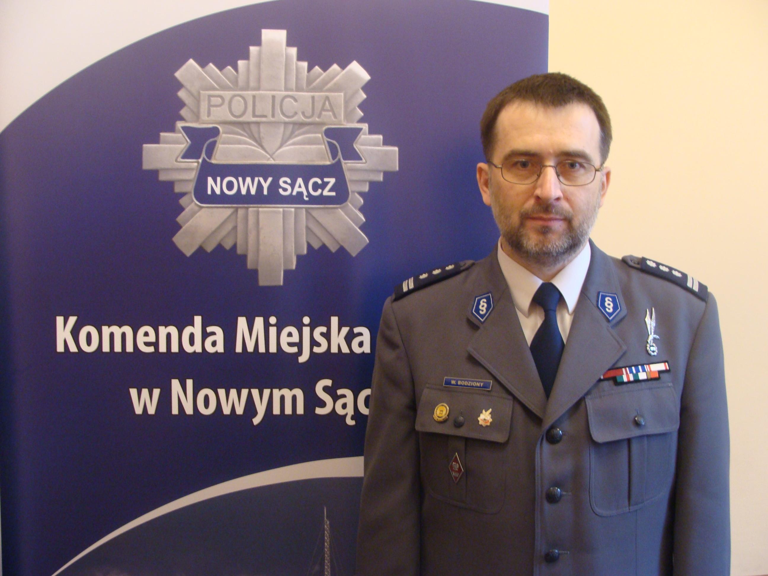 insp.mgr inż. Witold Bodziony- Komendant Miejski Policji w Nowym Sączu