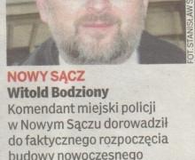 Witold Bodziony, 5 grudnia 2008, GAZETA NOWOSĄDECKA